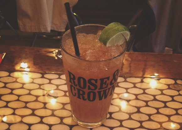 cocktail hour at rose and crown