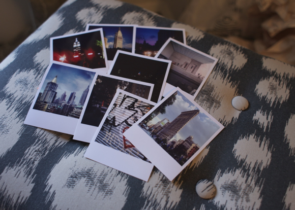 iphone photos of new york printed with the printic app