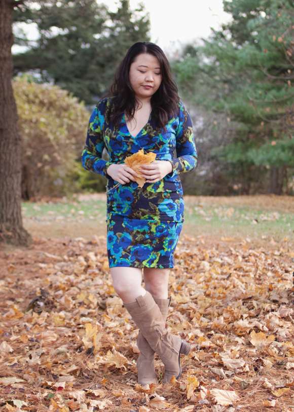 fall fashion blue floral von vonni dress