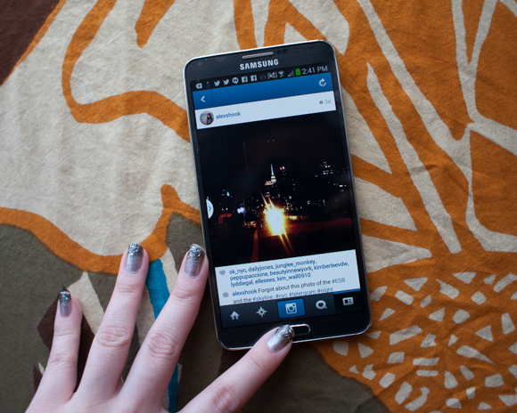 instagram on samsung galaxy note 3 phablet