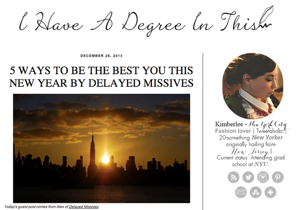 5 ways to be the best you this new year guest post for i have a degree in this