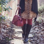 Coach Legacy Molly Satchel, Born boots and Joe Fresh leopard print dress | Delayed Missives lifestyle blog