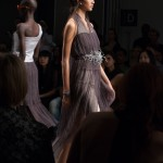 Sheer 3D printed embellished dress at Katya Leonovich Spring 2015 | New York Fashion Week