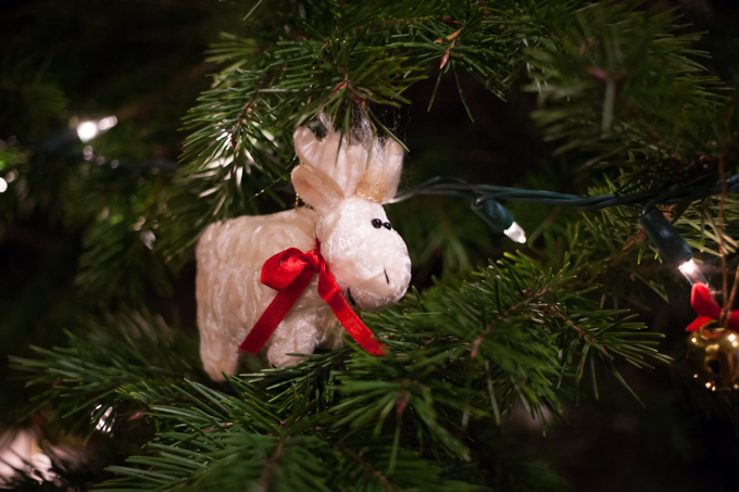 crushed velvet moose christmas ornament